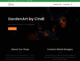 gardenartbycindi.com screenshot