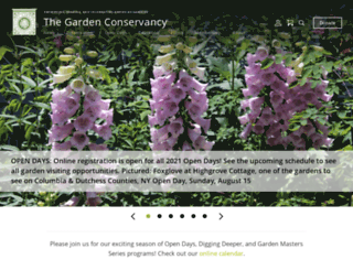 gardenconservancy.org screenshot