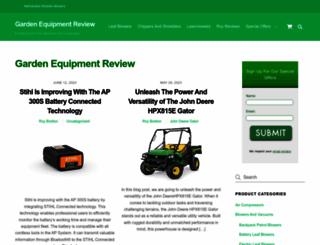 gardenequipmentreview.com screenshot