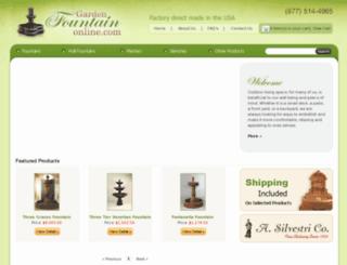 gardenfountainonline.com screenshot