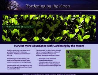gardeningbythemoon.com screenshot
