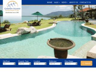 gardenislandphuket.com screenshot
