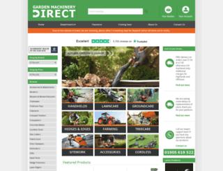 gardenmachinerydirect.co.uk screenshot