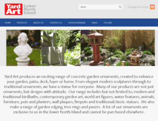 gardenornaments.alinegraphics.co.nz screenshot