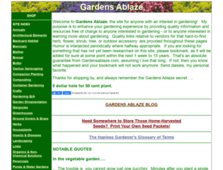 gardensablaze.com screenshot