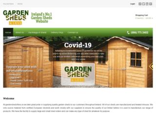 gardensheds4less.ie screenshot