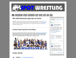 gardenspotwrestling.com screenshot
