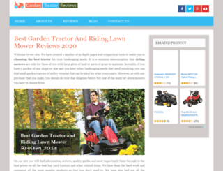 gardentractor.reviews screenshot