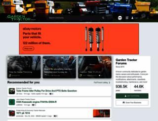 gardentractortalk.com screenshot