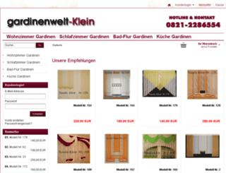 gardinenwelt-klein.com screenshot