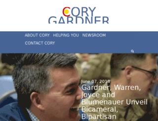 gardner.senate.gov screenshot