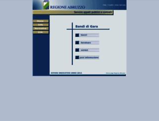 gare.regione.abruzzo.it screenshot