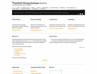 garfielddiving.com screenshot