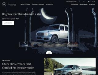 gargash.mercedes-benz.com screenshot