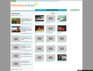 garhwalisongs.uttaranchalmusic.com screenshot