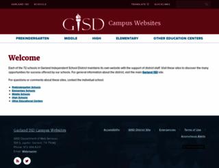 garlandisdschools.net screenshot