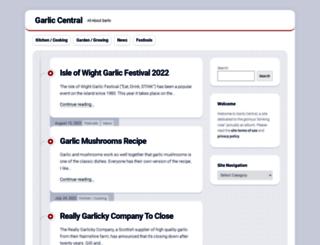 garlic-central.com screenshot