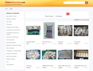 garlic.china-direct-buy.com screenshot