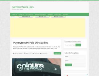 garment-stocklots.com screenshot