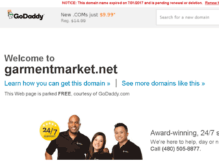 garmentmarket.net screenshot
