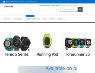 garminonline.co.za screenshot