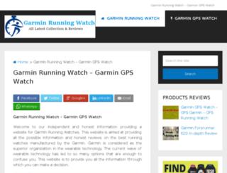 garminrunningwatch.com screenshot