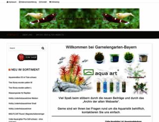 garnelengarten-bayern.de screenshot