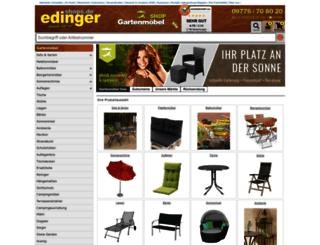 gartenmoebel.edingershops.de screenshot