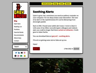 garybacon.com screenshot