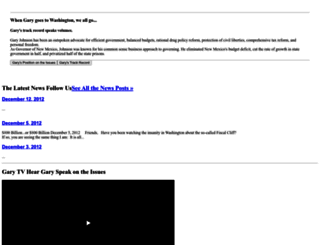garyjohnson2012.com screenshot