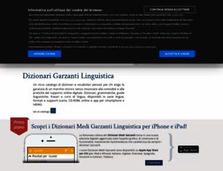 garzantilinguistica.it screenshot