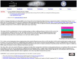 gasnet.lbl.gov screenshot