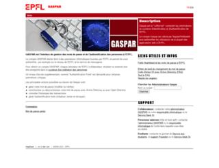 gaspar.epfl.ch screenshot