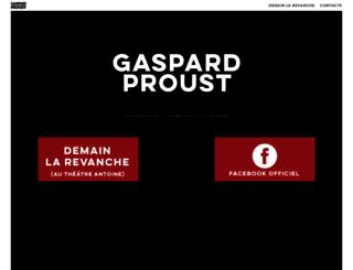 gaspardproust.fr screenshot