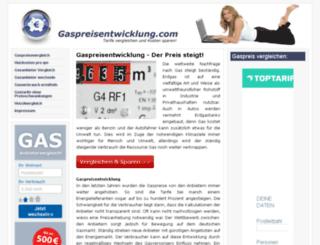 gaspreisentwicklung.com screenshot
