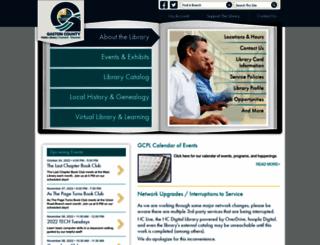 gastonlibrary.org screenshot