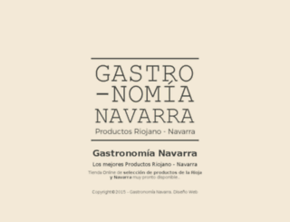 gastronomianavarra.com screenshot