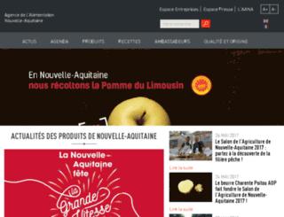 gastronomie.aquitaine.fr screenshot