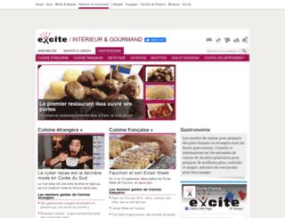 gastronomie.excite.fr screenshot