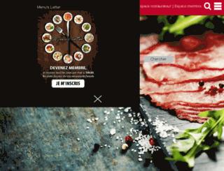 gastronomie.lu screenshot