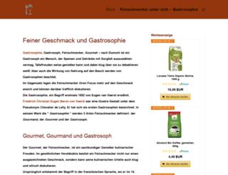 gastrosophie.org screenshot