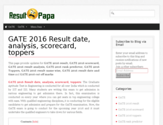 gate.2016result.co.in screenshot