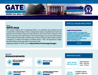 gate.iitkgp.ac.in screenshot
