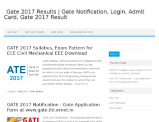 gateresults2017.co.in screenshot