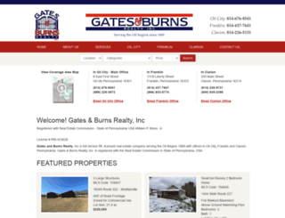 gatesandburnsrealestate.com screenshot