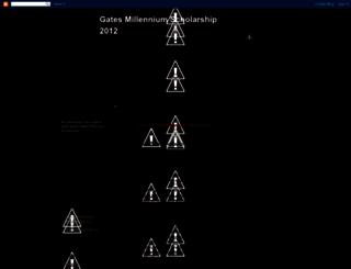 gatesmilleniumscholarships.blogspot.com screenshot