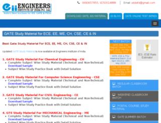 gatestudymaterial.engineersinstitute.com screenshot