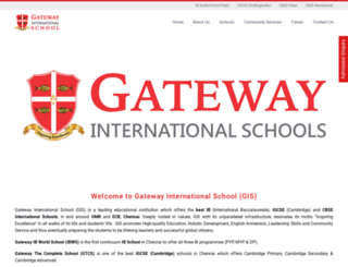 gatewayschools.edu.in screenshot