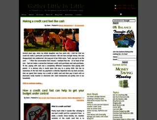 gatherlittlebylittle.com screenshot