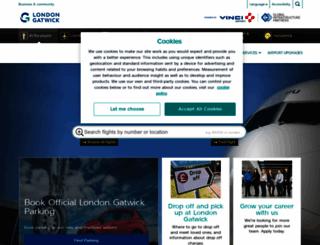 gatwickairport.com screenshot